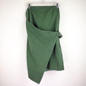 Kate Spade Saturday Moss Green Wool Shift Dress